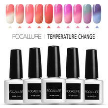 FOCALLURE Hot Sale Temperature Chameleon UV Nail Gel Lacquer Change Color Led Gel Nail Glue(China)