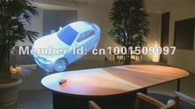 Free shipping 1.524m*9m self adhesive holographic film 3d holographic projection screen film for shop advertising