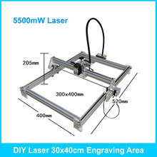 5500mW DIY Desktop Mini Laser Engraver Engraving Machine Laser Cutter Etcher CNC Picture Logo Printer 30*40cm