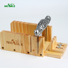 Adjustable Wood Loaf Soap Cutter Box with Stainless Steel Blade For Handmade Soap Making Tools Set
