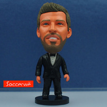 Soccerwe 2017 Season 2.55 Inches Height Football Dolls BC 3 Pique Figure Red Black Suit Articles