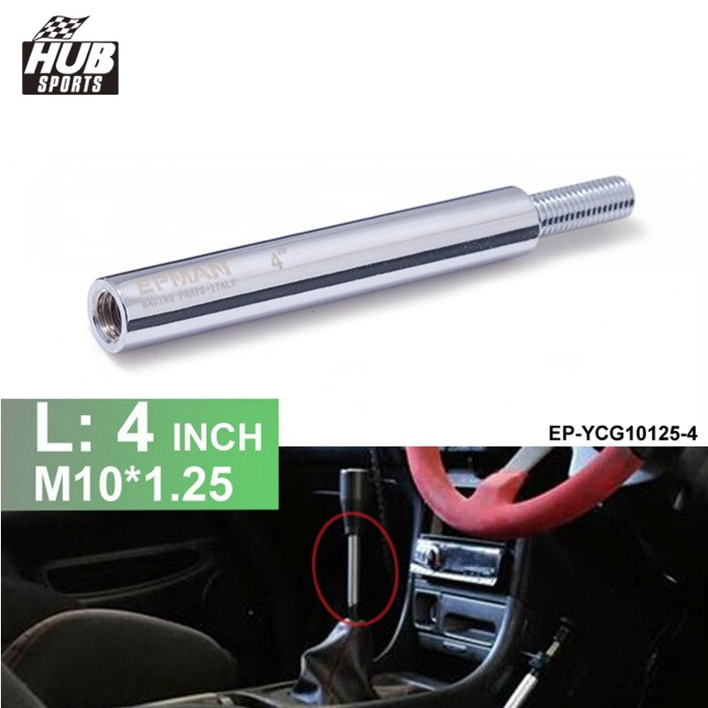 M10x1.25 4Inch Extension Gear Shift Knob Extender for Manual Transmission Gear Shifter Lever