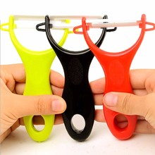 New Design Colorful Fruit Vegetable Potato Ceramic Peeler Kitchen Tools Accessories Gadget Helper Colors Random