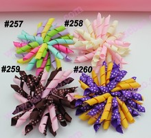 free shipping 45pcs 3.5'' korker hair clips (SEW ONES) to mix color korker hair bow New girl hair clips(China)