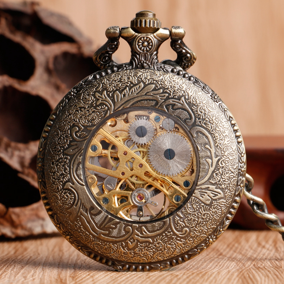 YISUYA Hollow Pendant Pocket Watch Men Prague Constellation Mechanical Hand Winding Copper Compass Women Christmas Xmas Gift (2)