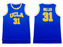 UCLA #31 Reggie Miller jerseys Throwback Miller 31 Basketball jersey Embroidery Logos,cheap jerseys wholesale Free shipping