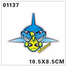 2016 moto gp valentino stickers VR 46 Misano fish decals reflective vinyl motocross helmet sticker racing motorcycle ATV SBK