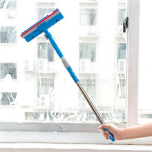Stretch Rotatable Cleaning Brush Glass Wiper Window Cleaner Long Handle Double Side Design Kitchen Bathroom Tool