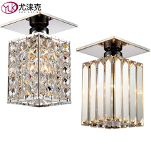 Lustre De Cristal Modern LED Crystal Ceiling Light Lamp Stairs for Ceiling Lamp LED Small Light Mini Aisle Cristal Lighting
