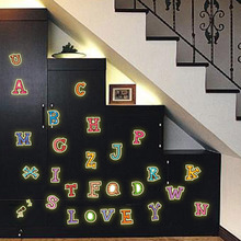 Y0001 color letters put fluorescent luminous living room bedroom decor wall stickers manufacturers wholesale(China)