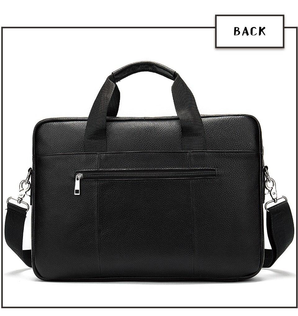 WESTAL torba teczka męska z naturalnej skóry mężczyzna mężczyzna torba na laptop skóra naturalna dla mężczyzn Messenger torby męskie teczki 2019 -