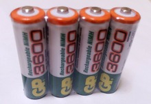 Brand New 2017 0riginal 4pcs/Lot GP 1.2V NiMh AA 800 mAh Battery Rechargeable AA Batteries pilas recargables  Model: 3600 aa
