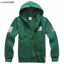 Lacontrie HOT SALE Attack On Titan Survey Corps Freedom Wings Logo Hoodies Unisex Long Sleeve Hoody New Fashion 2016(China)