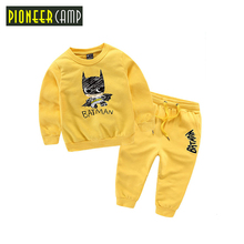 Pioneer Kids 2017 New 18M-10T Boy Clothes Set New Fashion Kids Boys Batman Clothes 2pcs Hoodie+Pants Girls Sport Suit