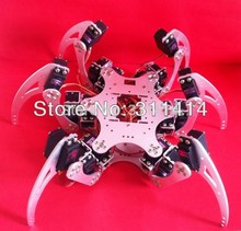 1set 18 DOF Six-feet 6 Legged Intelligent Robot Spider Metal Frame Kit W/Bearing & Servo Arm Plate Silver Wholesale Retail
