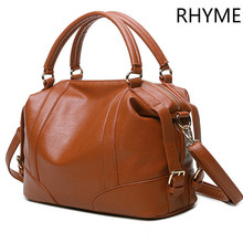 RHYME Soft Leather Handbags Big Women Bag Zipper Ladies Shoulder Bag Girl Hobos Bags New Arrivals Bolsa Feminina