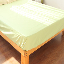Cotton Bed Linen Green Sheet Simple Flat Sheet Queen King Sheet(China)