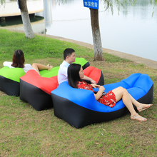 Folding Inflatable Sofa Fast Inflatable lounger lazy bag sofa High Quality Outdoor Sleep Relax Air Sofa bag Waterproof air chair(China)