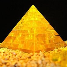 DIY TOY for children 3D Crystal Puzzle (pyramid) Educational toy,Wholesale and Retail construction toys(China)