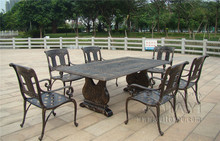 7-piece Best-selling cast aluminum table and chair Outdoor furniture transport by sea(China)