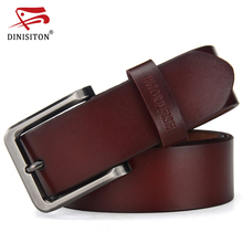 DINISITON Newest designer belts men high quality cow genuine leather belt vintage pin buckle ceinture mens belts freeshipping(China)