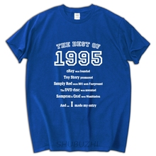 male funny present Fashion Best of 1995 21st Birthday Best Gift Idea T-Shirt History Facts Custom Print Casual O-Neck Top Tee(China)