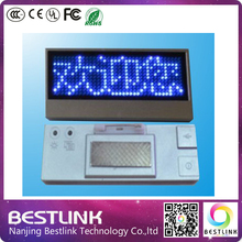blue color Sign Scrolling advertising business card show digital display tag LED name badge Rechargeable+Programmed