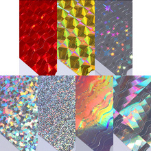 Laser 3D Nail Sticker Holo Wave Line Ultra Thin Adhesive Sticker DIY Nail Foil Decal 1 Sheet Nail Decoration Water Sticker(China)