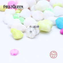 FirstQueen 925 Sterling Silver Mother of Pearl Luminous Floral Pendant Charms Fit Bracelet Bangles Fine Jewelry Making E