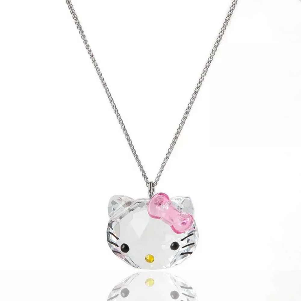 SWAN JEWELRY Hot Sales Crystal Pendants Necklaces Hello Kitty Fashion Chain  Necklace Sweet Cute Gifts For