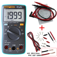 ANENG 1999 counts LCD digital multimeter AN8004 voltmeter ammeter resistance tester DC / AC 750 / 1000V and volt ohmmeter P20(China)