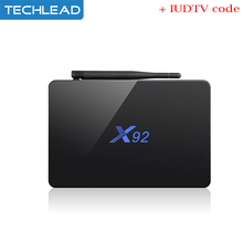 X92 Android wifi 4k Set top box S912 with European iudtv package Swedish tv channel Greek germany poland USA iptv code apk Italy