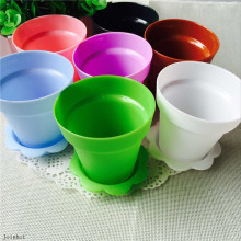 Colorful plant cake containers cupcake containers with shovel cake tools Plastic flower pot cake Mold