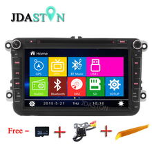 JDASTON 8 Inch 2Din Car DVD GPS Navigation For Volkswagen VW Passat B5 B6 Polo Golf 4 5 Touran Sharan Jetta Caddy T5 Tiguan Bora(China)