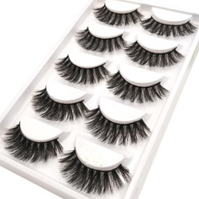 5 pairs thick false eyelashes black long 3d mink eyelashes eyelash extension professional mink lashes makeup eye lashes(China)
