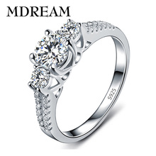 silver Color ring with AAA Zircon for women glittering noble Gorgeous wedding rings jewelry wholesale market LSR011(China)