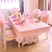 Christmas Disposable Tablecover Party Supplies Birthday Party Wedding Picnic Transparent PVC Tablecloth Camping Pink Table Cloth(China)