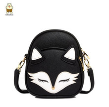 Hot New 2017 Cute Cat Shoulder Bags Fox Face Women Baby Girl Mini Bags For Women Cross Body lolita bag high quality(China)
