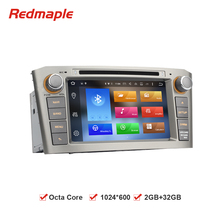 7''HD Octa Core Android 6.0 Car Stereo DVD Headunit For Toyota Avensis2003+ Auto Radio GPS Navigation Multimedia 2GB RAM 32GB(China)