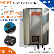 1200W Grid Tie Inverter with IP65 waterproof, MPPT fuction, 170-220VDC, 190-260VAC, 60hz/50hz, LED&LCD display for solar system