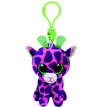 "Ty Beanie Boos GILBERT Pink Giraffe Clip 3"" Keychain Plush Stuffed Animal Collectible Doll Toy"