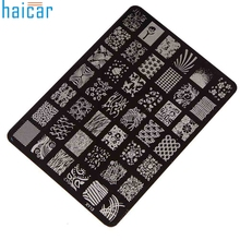 Haicar Best Deal Good Quality Nail Stamping Printing Plate Manicure Nail Art Decor Image Stamps Plate for Women Lady Beauty 1set
