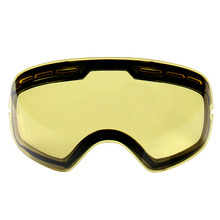 Hot !Double brightening lens for ski goggles Night of Model Number GOG-201 For weak Light tint Weather Cloudy ski mask