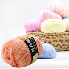 Fashion 1pcs 50g DIY Craft Sweater Knitting Yarn Natural Soft Bamboo Hand Knitting Yarn Baby Cotton Yarn