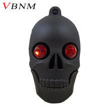 VBNM cool diamond Skull Heads pen drive monster usb flash drive pendrive 4GB 8GB 16GB 32GB cartoon memory stick(China)