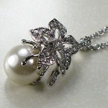 WHITE PEARL 925 STERLING SILVER PENDANT TP130(China)