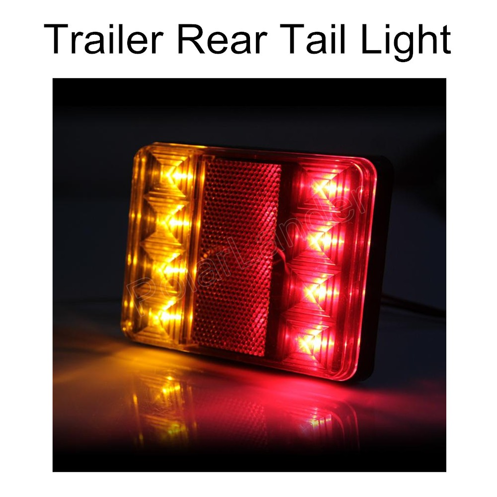 factory price sale 2x Waterproof 8 LED Taillights Rear Tail Light DC24V for Trailer Truck Boat car accessory<br><br>Aliexpress