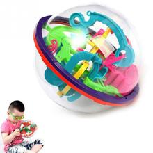 3D Magic Intellect Maze ball Children Balance Logic Ability Puzzle Game Educational Training Tools Random Color(China)