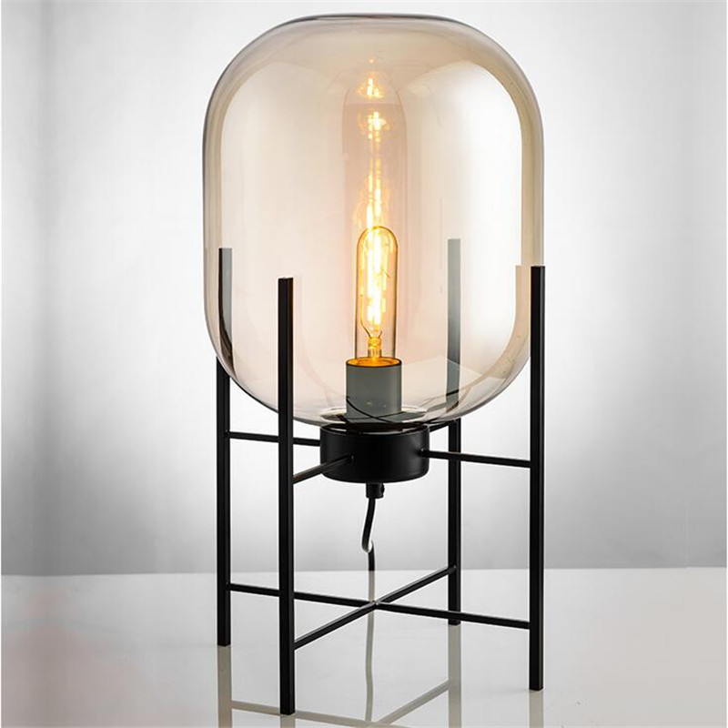 Nordic Style Glass Floor Lamp Retro Melon Floor Lights Fashion Design Glass Table Lamps Lights for Living RoomCountry HouseBar (21)