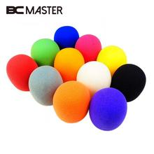 "BCMaster 10Pcs Multi color Handheld Stage Ball shape Microphone Windscreen Foam Mic Cover Karaoke DJ 2.8""x2.3"" High Quality(China)"